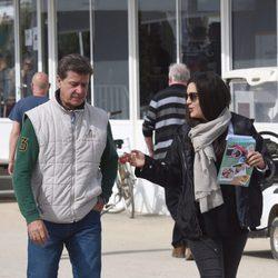 Cayetano Martínez de Irujo y Bárbara Mirján en el concurso hípico de Vejer de la Frontera
