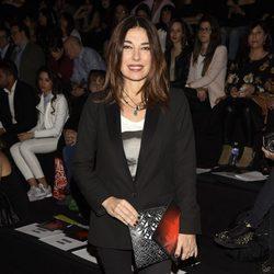 Raquel Revuelta en el desfile de la firma Juana Martín en la Madrid Fashion Week 2017/2018