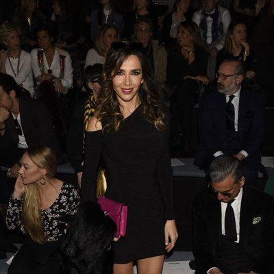 Paloma Lago en el desfile de la firma Malne en la Madrid Fashion Week 2017/2018
