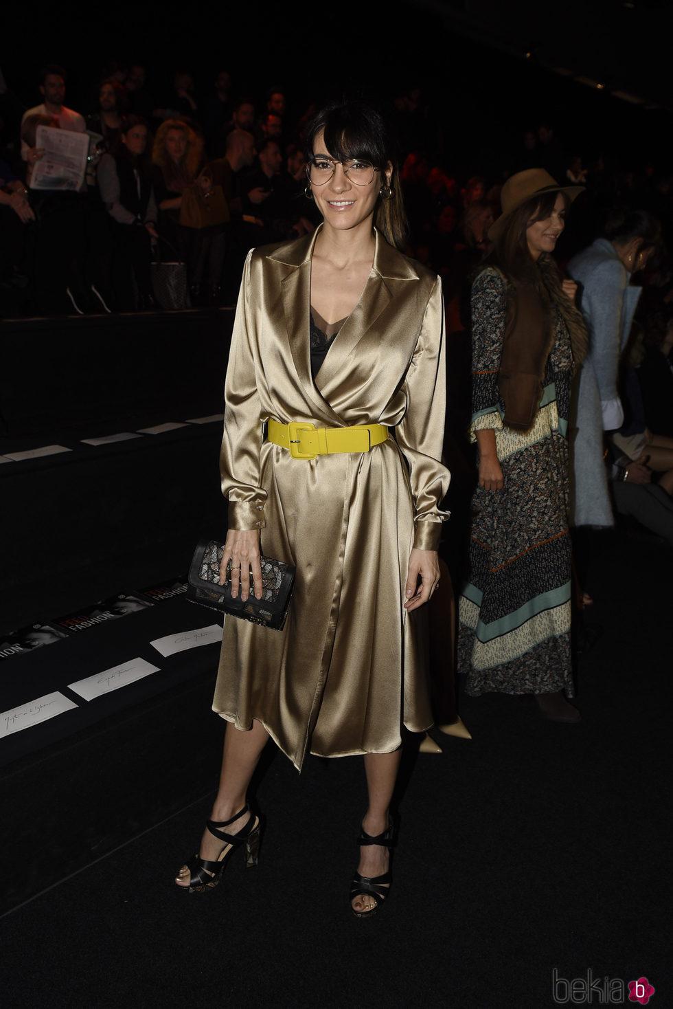 Cecilia Gessa en el desfile de la firma The 2nd Skin en la Madrid Fashion Week 2017/2018