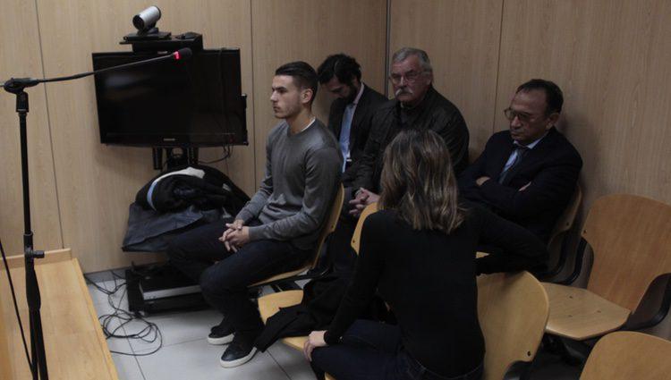 Lucas Hernández en el juicio por violencia de género contra su pareja