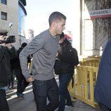 Lucas Hernández llegando a los juzgados