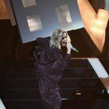 Katy Perry en el escenario de los Brit Awards 2017