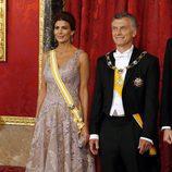 Mauricio Macri y Juliana Awada en la cena de gala en su honor en el Palacio Real