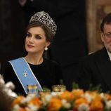 La Reina Letizia y Mariano Rajoy en la cena de gala en honor al presidente de Argentina en el Palacio Real