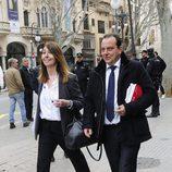 Pedro Horrach a su llegada a la vistilla en la que se piden medidas cautelares contra Iñaki Urdangarín y Diego Torres