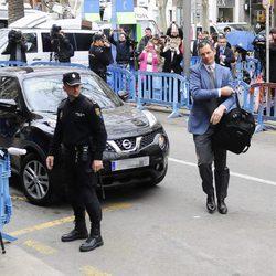 Iñaki Urdangarín tras llegar a la Audiencia de Palma para la vistilla