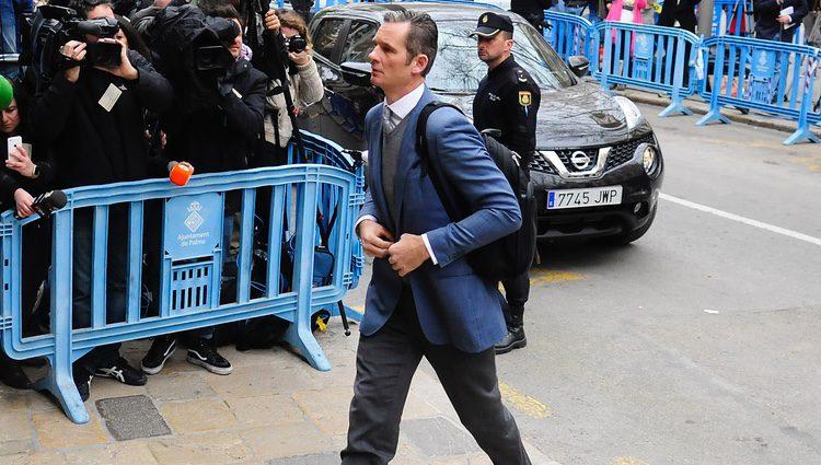 Iñaki Urdangarín en la vistilla tras la sentencia del Caso Nóos