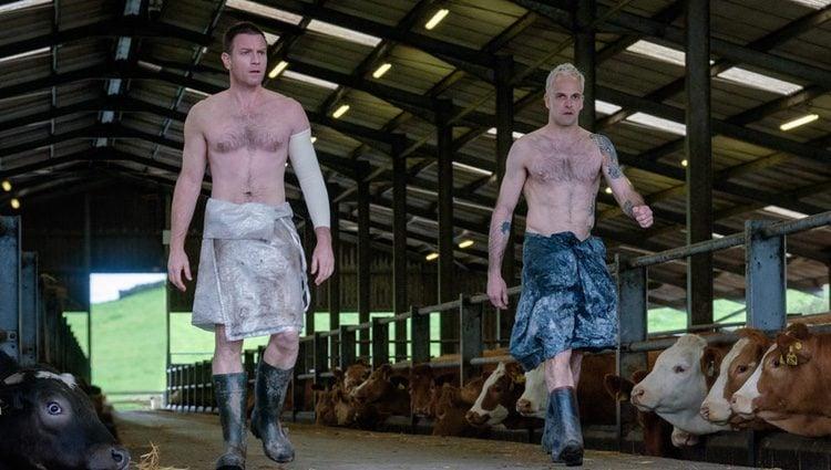 Ewan McGregor y Jonny Lee Miller rodando 'T2 Trainspotting'