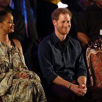 Rihanna y el Príncipe Harry celebrando el 50 aniversario de Barbados