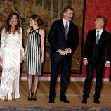 Juliana Awada, la Reina Letizia, el Rey Felipe y Mauricio Macri en El Pardo