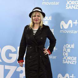Lluvia Rojo en el estreno de '¿Qué fue de Jorge Sanz?'