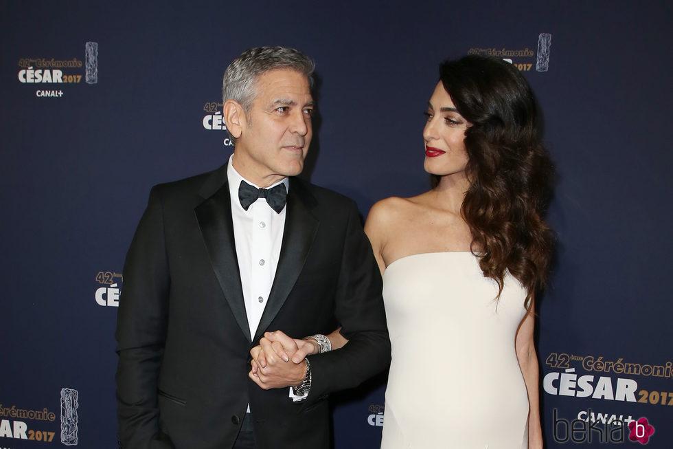 George Clooney y Amal ...
