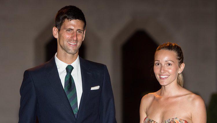 Novak Djokovic y Jelena Ristic en la Gala de Wimbledon 2015