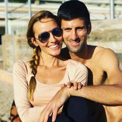 Novak Djokovic y su mujer Jelena Ristic