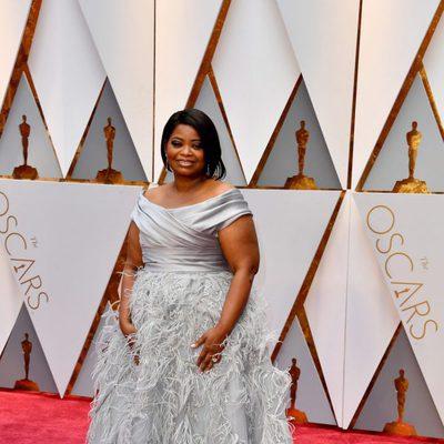 Octavia Spencer en la alfombra roja de los Premios Oscar 2017