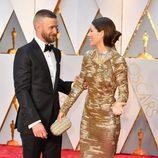 Jessica Biel y Justin Timberlake muy cómplices en la alfombra roja de los Premios Oscar 2017