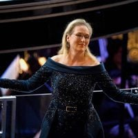 Meryl Streep agradeciendo en los Oscar 2017 el aplauso de sus compañeros