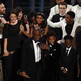 Barry Jenkins agradeciendo el Oscar 2017 a Mejor película para 'Moonlight'