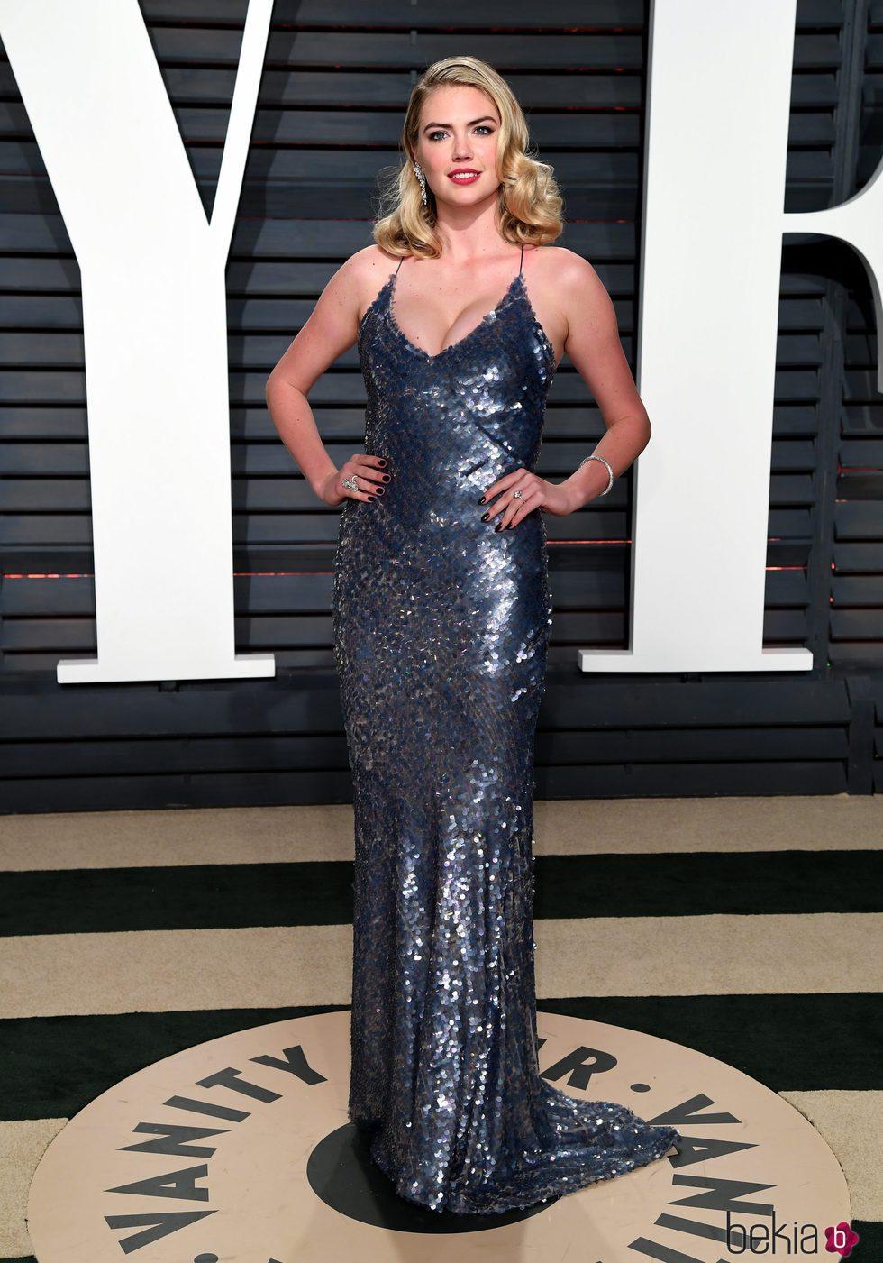 Kate Upson en la fiesta de Vanity Fair de los Premios Oscar 2017
