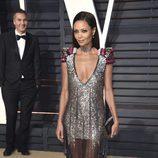 Thandie Newtonen la fiesta de Vanity Fair de los Premios Oscar 2017