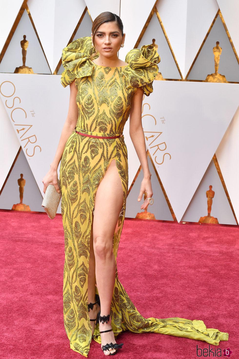 La actriz Blanca Blanco en la gala de los Oscar 2017