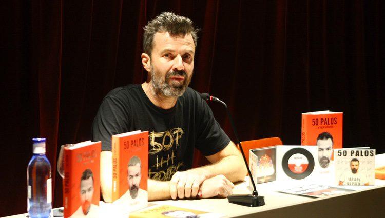 Pau Donés en la presentación de su nuevo disco '50 palos' en Barcelona
