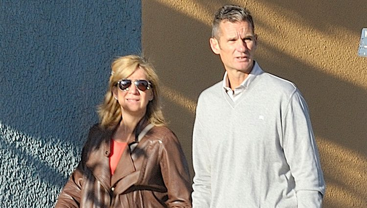 La Infanta Cristina e Iñaki Urdangarin paseando por Ginebra