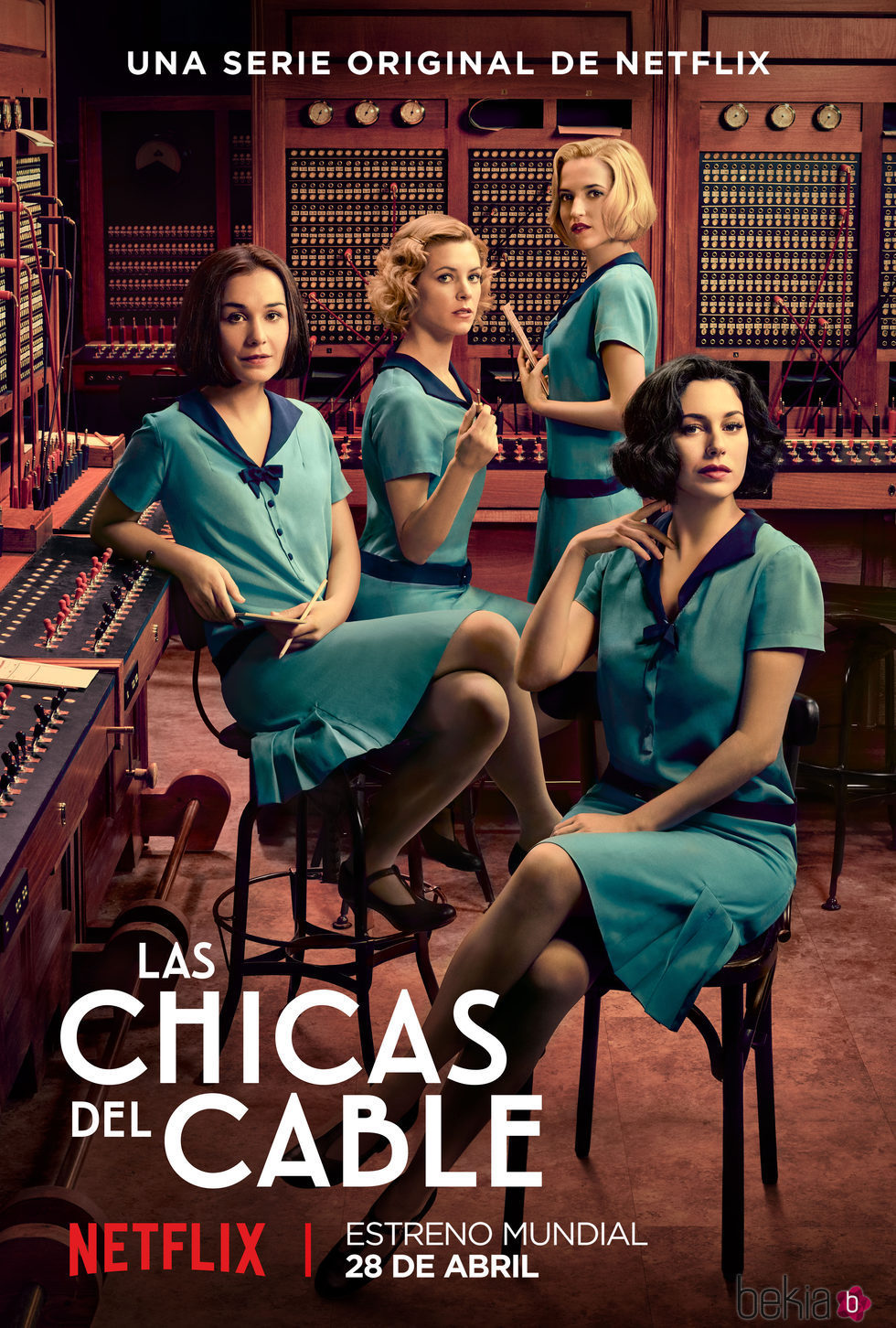 Póster oficial de 'Las chicas del cable'