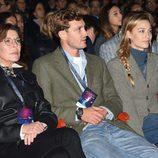 Carolina de Mónaco, Pierre Casiraghi y Beatrice Borromeo