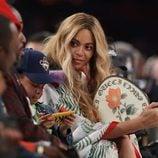Beyoncé disfrutando junto a su marido Jay-Z y su hija Blue Ivy