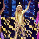 Yolanda Ramos interpretando a Norma Duval en la sexta gala de 'Tu cara me suena 5'