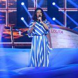Yolanda Ramos imitando a Remedios Amaya en la duodécima gala de 'Tu cara me suena 5'