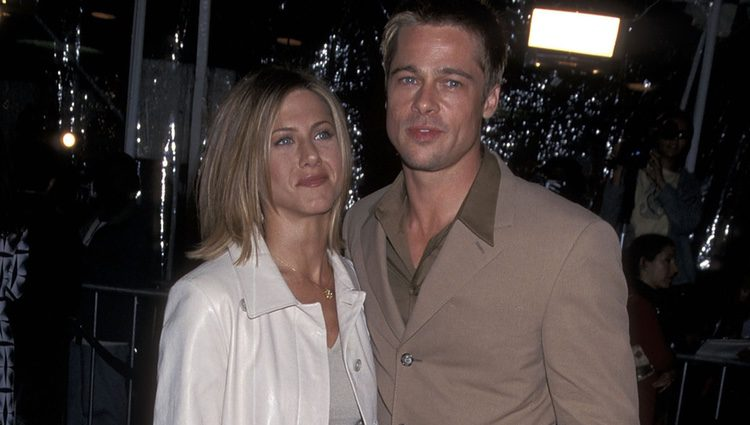 Jennifer Aniston y Brad Pitt en la premiere de 'The Mexican'