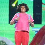 Yolanda Ramos imitando a Dora La Exploradora en la segunda semifinal de 'Tu cara me suena 5'