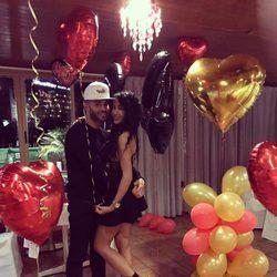 Jesé Rodríguez celebrando su 24 cumpleaños con su novia Aurah Ruiz