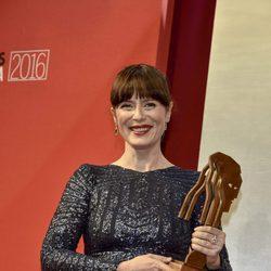 Aitana Sánchez Gijón con su Fotograma de Plata 2016