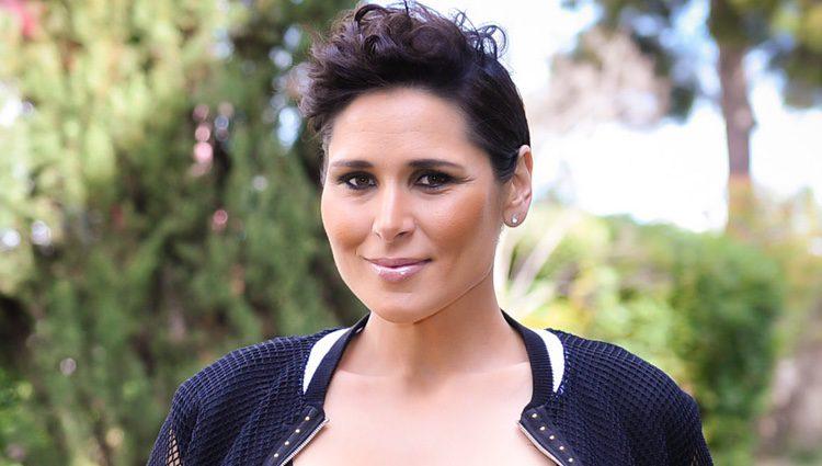 Rosa López posando como segunda clasificada de 'Tu cara me suena 5'