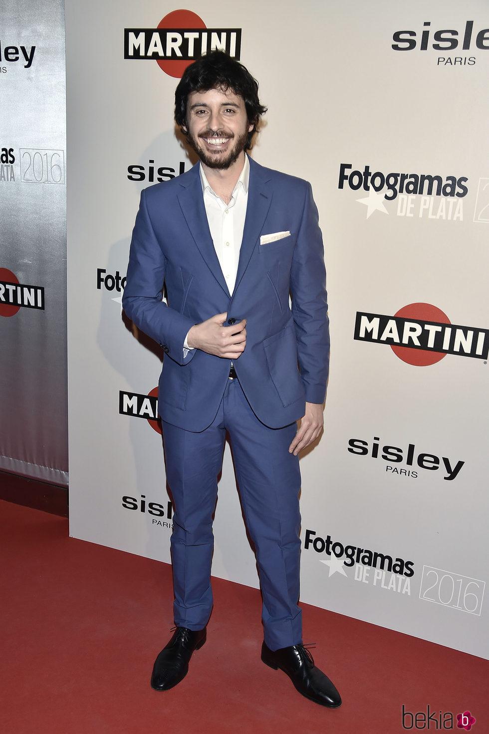 Javier Pereira en la alfombra roja de los Premios Fotogramas de Plata 2016
