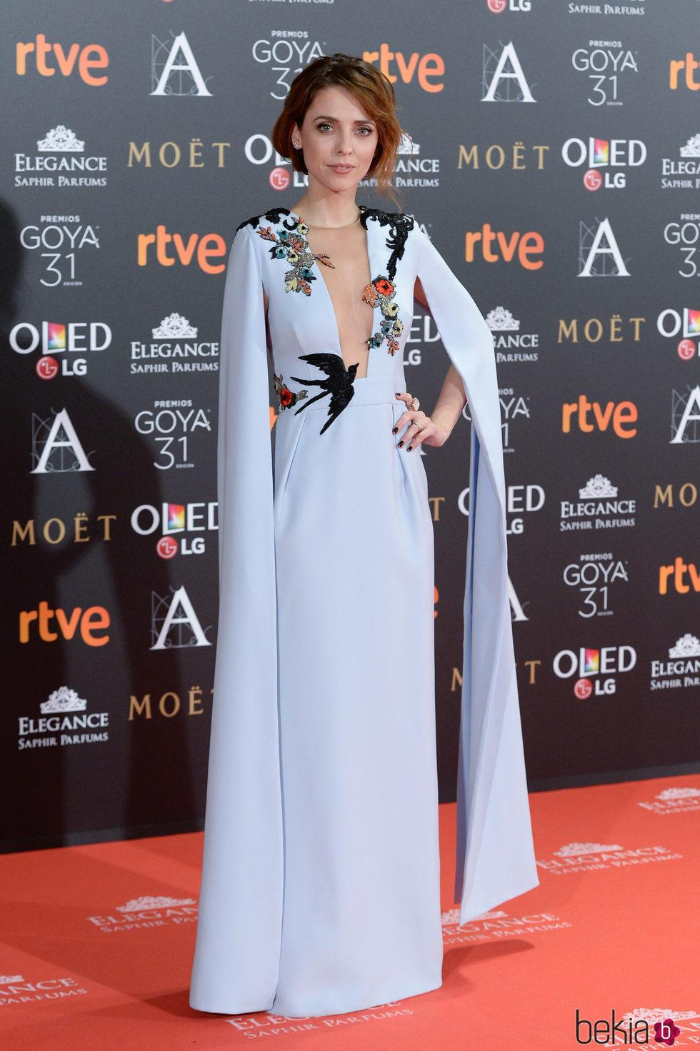 Leticia Dolera en la alfombra roja de los Premios Goya 2017