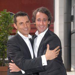 Jesús Vázquez y Álvaro Muñoz Escassi en la presentación de 'I love Escassi'