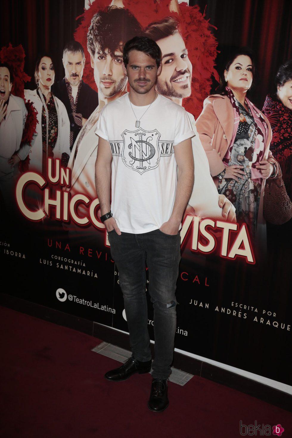 Gonzalo Ramos en el estreno de 'Un chico de revista'