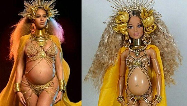 Beyoncé embarazada en versión Barbie