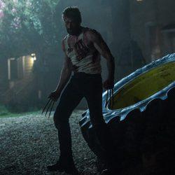 Hugh Jackman interpretando el papel de Lobezno en la película 'Logan'