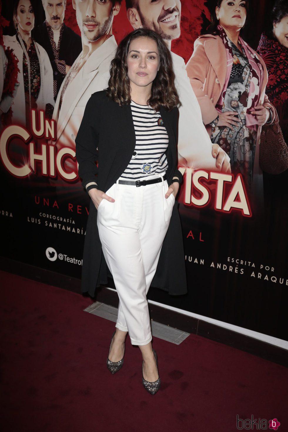Claudia Molina en el estreno de 'Un chico de revista'