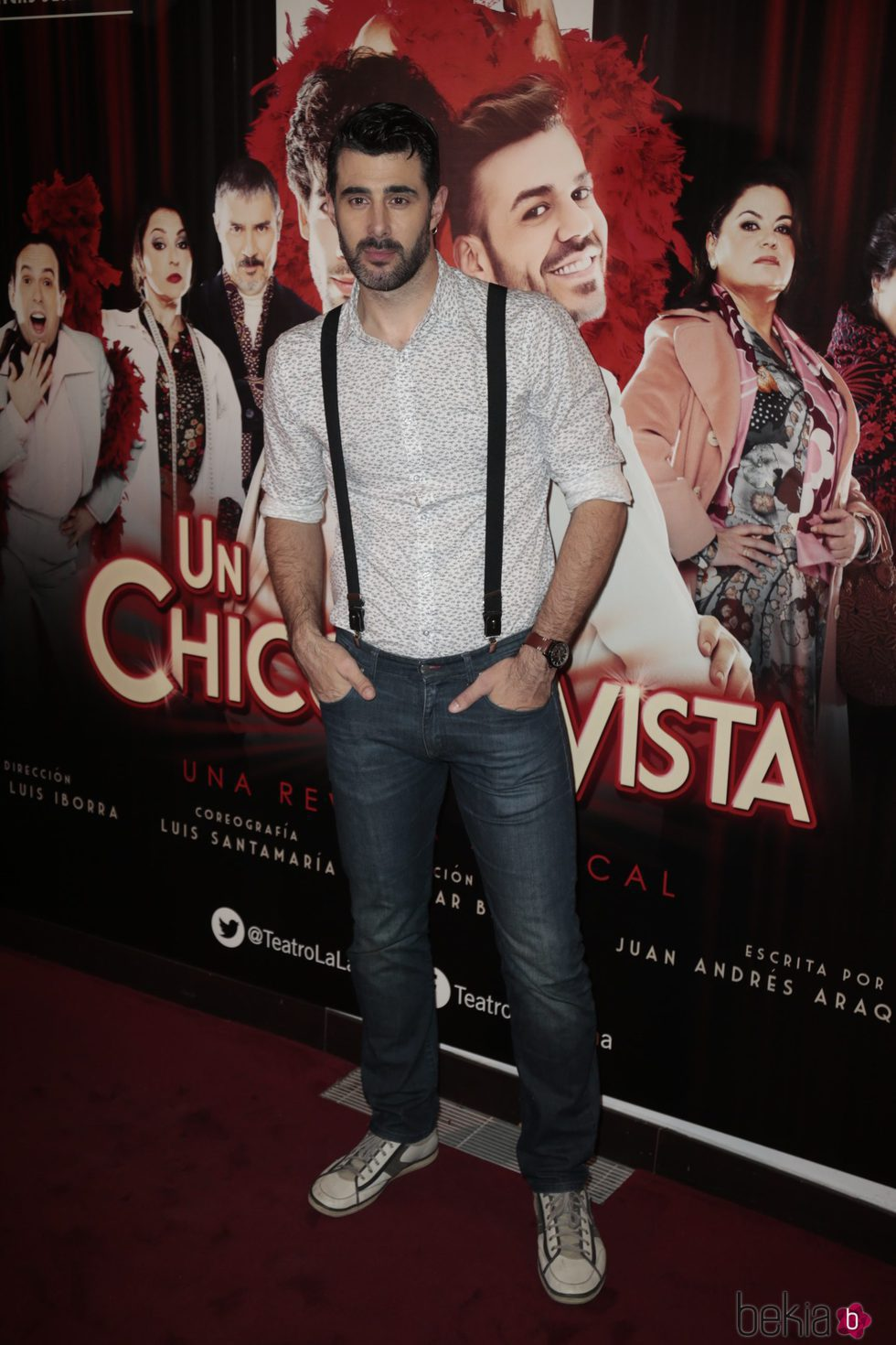David Amor en el estreno de 'Un chico de revista'