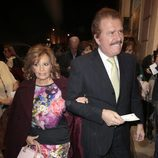 María Teresa Campos y Bigote Arrocet en el estreno de 'Un chico de revista'