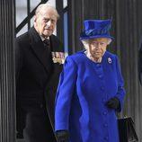 La Reina Isabel y el Duque de Edimburgo en la inauguración de un Memorial en recuerdo a los caídos en las guerras de Irak y Afganistán