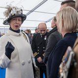 La Princesa Ana en la inauguración de un Memorial en recuerdo a los caídos en las guerras de Irak y Afganistán