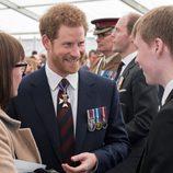 El Príncipe Harry en la inauguración de un Memorial en recuerdo a los caídos en las guerras de Irak y Afganistán